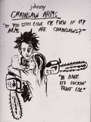 johnny chainsaw arms by Jiunik