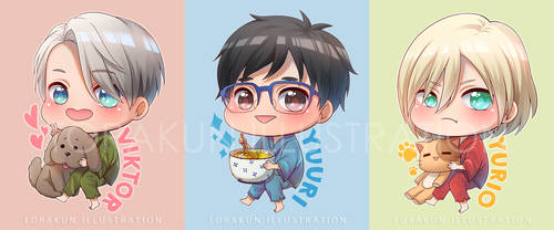 Yuri on ICE Chibis by torakun14