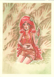 myself as a caveperson by anako