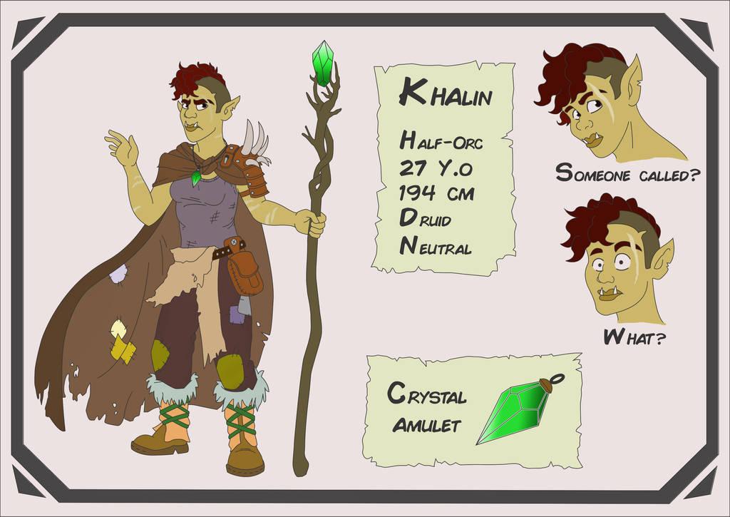 Khalin, the Druid by herzsprung1
