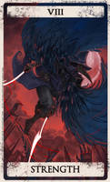 Bloodborne tarot VIII by Wingless-sselgniW