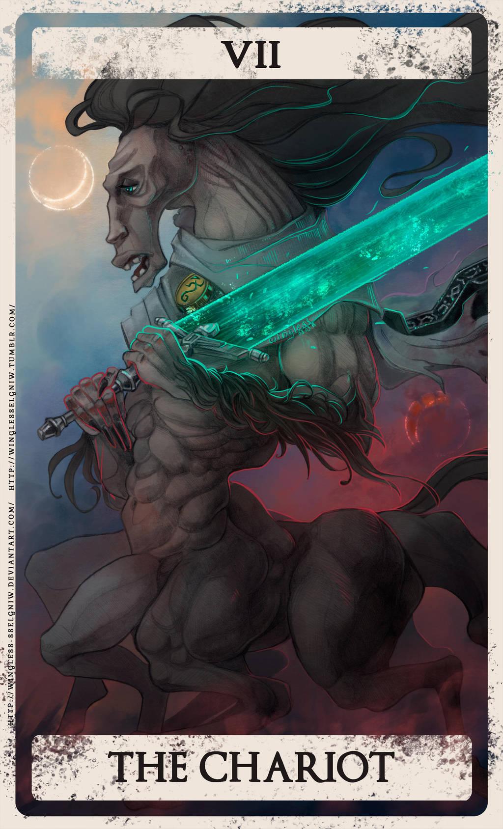 Bloodborne tarot VII by Wingless-sselgniW