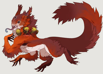 Plant-Fu: Red Squirrel (CLOSED) by KurokiKumo