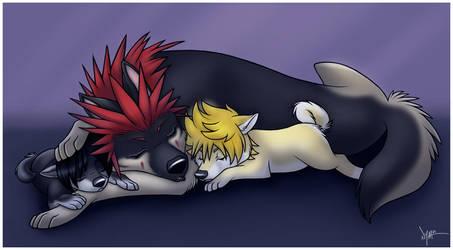 Axel Roxas + Xion - Sleepy by Nyaasu