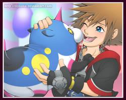 Sora and Meow Wow by Nyaasu