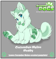 Stamper Dog Adoptable - Cucumber Melon Husky by Nyaasu