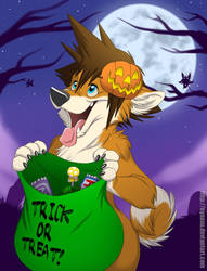 Trick or Treat! feat. Sora (YCH Example) by Nyaasu