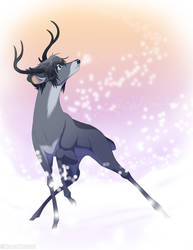 Holiday Deer Series - Noctis Lucis Caelum (FFXV) by Nyaasu