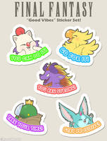 Final Fantasy 'GOOD VIBES' Stickers now available! by Nyaasu