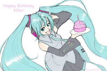 Happy Birthday Miku! by Nyaasu