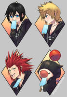 Kingdom Hearts - 'After Work Routine' Sticker Set! by Nyaasu
