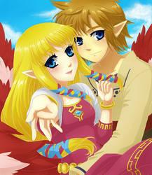 Link and Zelda by Selene-Galadriel