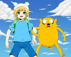 Finn and Jake by Selene-Galadriel