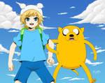 Finn and Jake by Selene-Galadriel