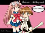 Chibi Loki and Chibi Mayura by Selene-Galadriel