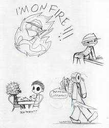 Slasher doodles by thedarklordkeisha