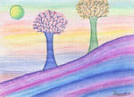 Colored landscape by Lilacool