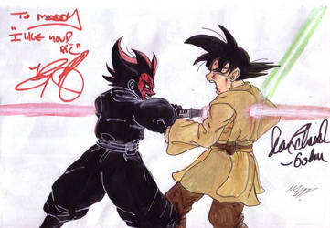 DARTH AND GOKU SIGNED IT by light-sabe-r