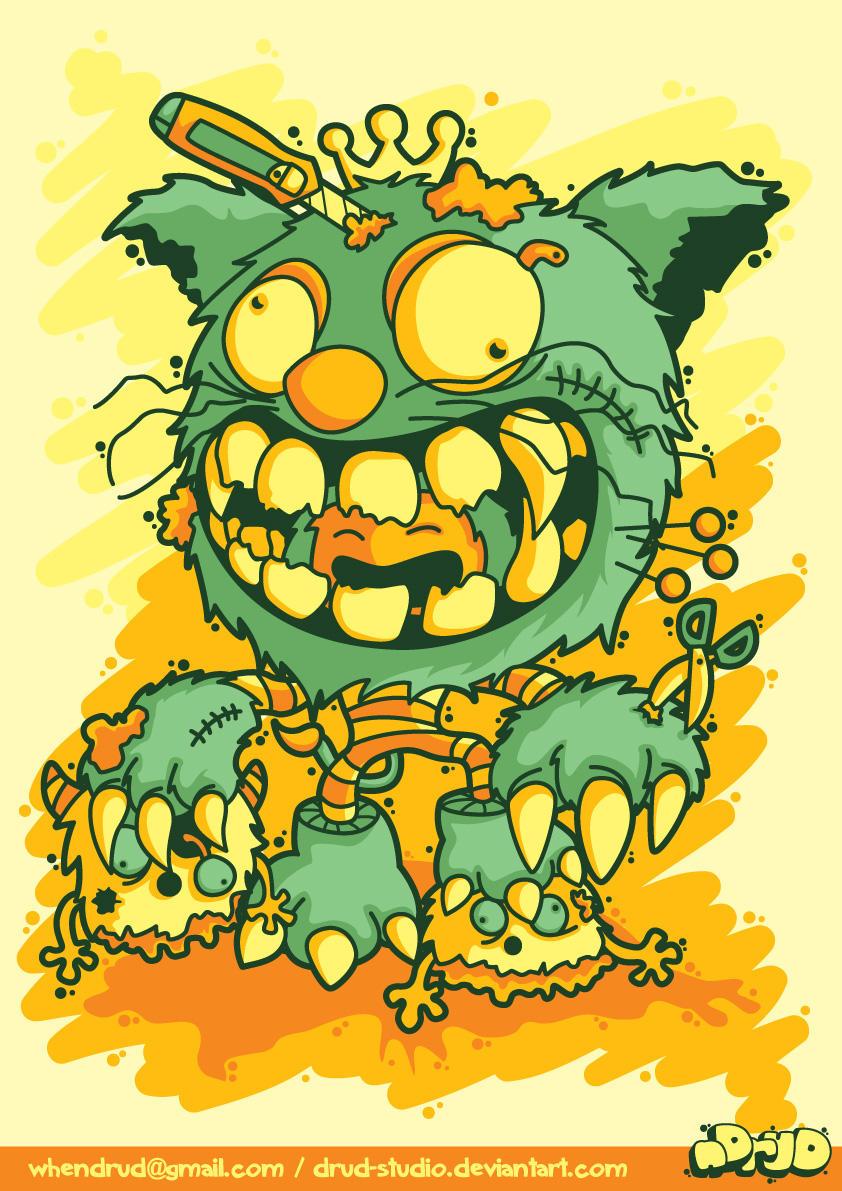 cat monster by drud-studio