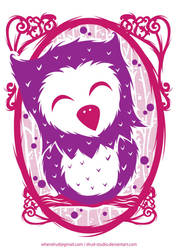 purple owl by drud-studio