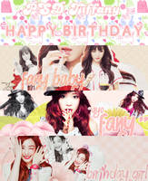 PSD Pack - Happy Birthday Tiffany - Zingme Cover by Candy-Jinie