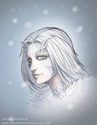 Dark Souls - Crossbreed Priscilla portrait by RuslanHuadonov