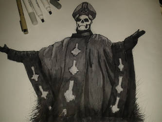 Ghost B.C.: Fan art - Emeritus II with watermark by ViniHP