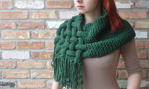Knit, woven scarf (OC) by LoopTeeLoops
