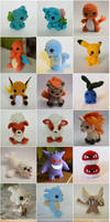 All of the crochet Pokemon! by LoopTeeLoops