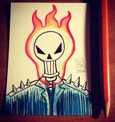 Ghost Rider sketchcard by Eastforth