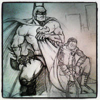 Batman and Robin by MisterHydesSon
