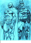 Hugo Strange and The Batman by MisterHydesSon