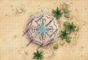 Desert Maps: Shrine by Caeora