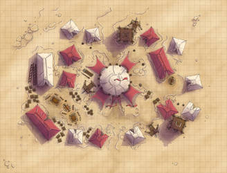 Desert Maps: Army Encampment by Caeora