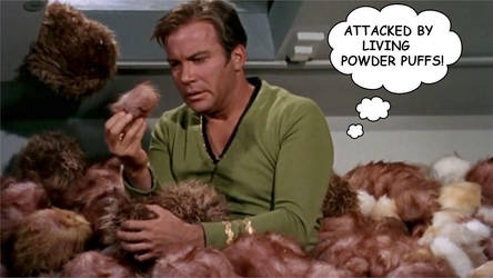 Captain Kirk And Tribbles by RoyPrince
