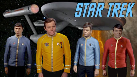 Star Trek - T.O.S. Dress Uniforms Rebooted by RoyPrince