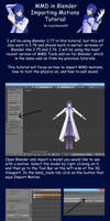 MMD in Blender Importing Motions Tutorial by crazy4anime09