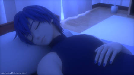 Kaito Sleeping by crazy4anime09