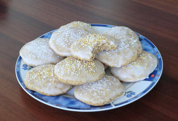 White Lebkuchen Cookies by 84-175