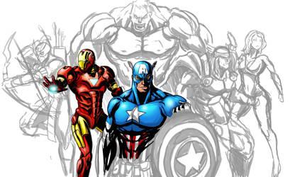 The Avengers boceto (vaghot) by vaghot