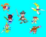 My Digi Pirate Group by SuperSmashCynderLum