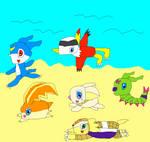 Running across the beach by SuperSmashCynderLum