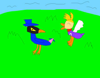 His tail feathers ruined by SuperSmashCynderLum