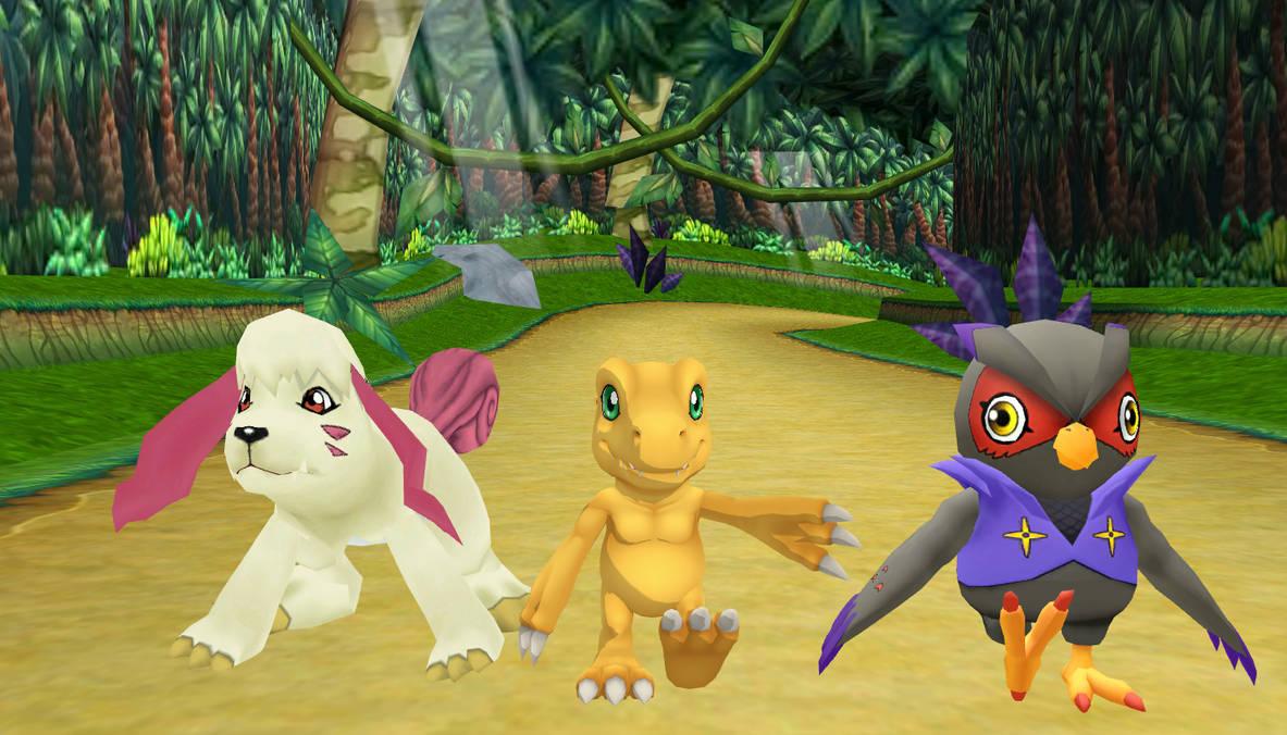 The Digimon Survive Trio by SuperSmashCynderLum
