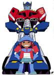 Optimus and Sari color by jbvirus
