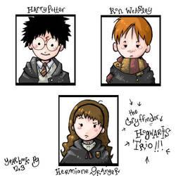 Hogwarts Trio Yearbook by mione2