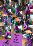 Twyla the purple dice dragon by FallenFantasyArt