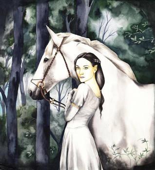 Aredhel, the white lady by SarkaSkorpikova