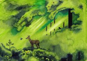 The forest interior by SarkaSkorpikova