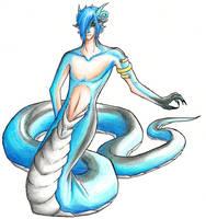 Blue Snake by SepiSnake